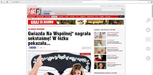 Fakt: Marta Wierzbicka nagrała sekstaśmę