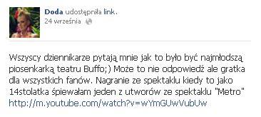 Tak Doda śpiewa z Januszem Józefowiczem (VIDEO)