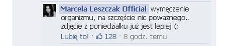 Marcela Leszczak trafi�a do szpitala