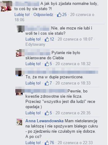 Anna Lewandowska wywo�a�a burz� na FB (FOTO)