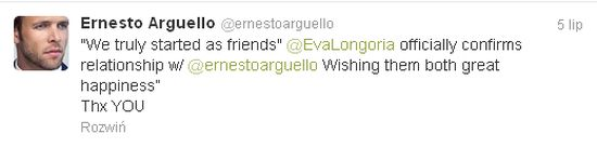 Eva Longoria i Ernesto Argulello publicznie wyznają uczucia