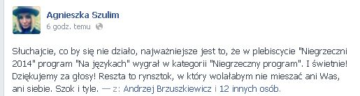 Policja komentuje spraw� pobicia Agnieszki Szulim