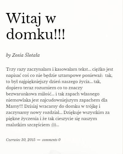 Zosia Ślotała urodziła!