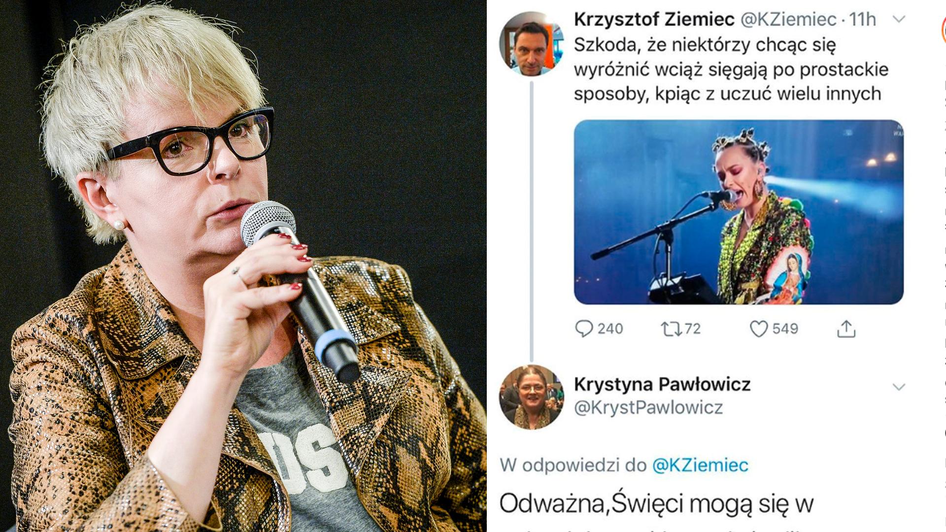 """Korwin-Piotrowska broni """"maryjnej"""" stylizacji Nykiel: skąd ten płaszcz?"""
