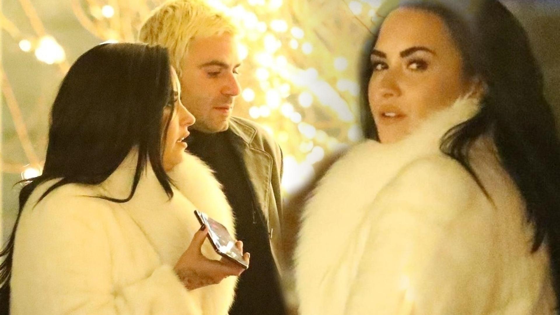 Demi Lovato w OGROMNYM futrze na randce z chłopakiem (ZDJĘCIA)