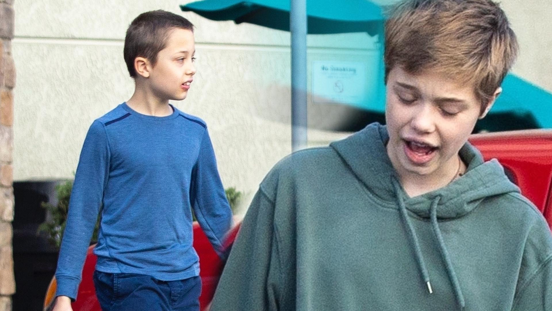 12-letnia Shiloh Jolie-Pitt taszczy zakupy z bratem (ZDJĘCIA)