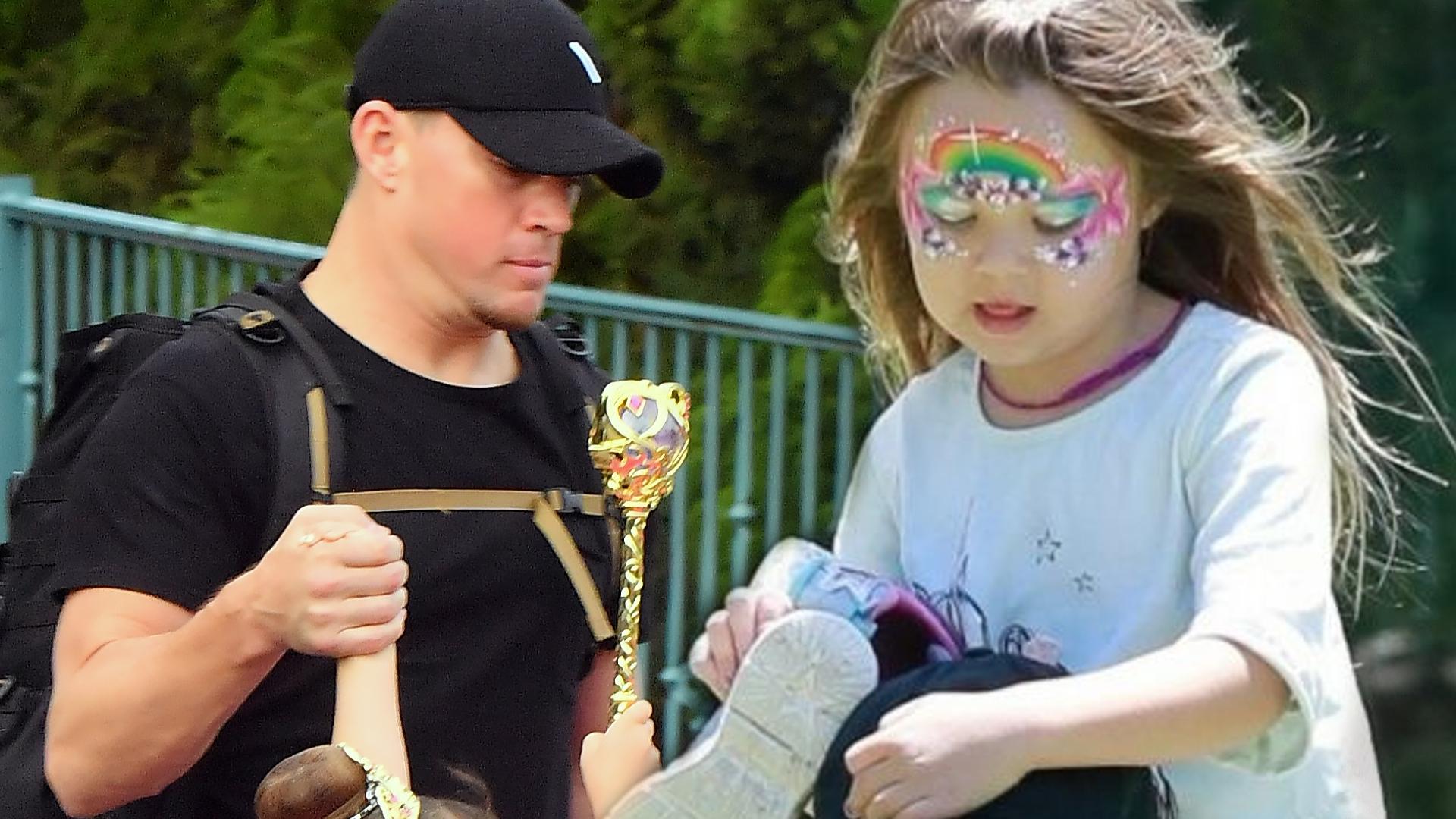 Channing Tatum to WZOROWY ojciec. Zobaczcie, jak zajmuje się córeczką