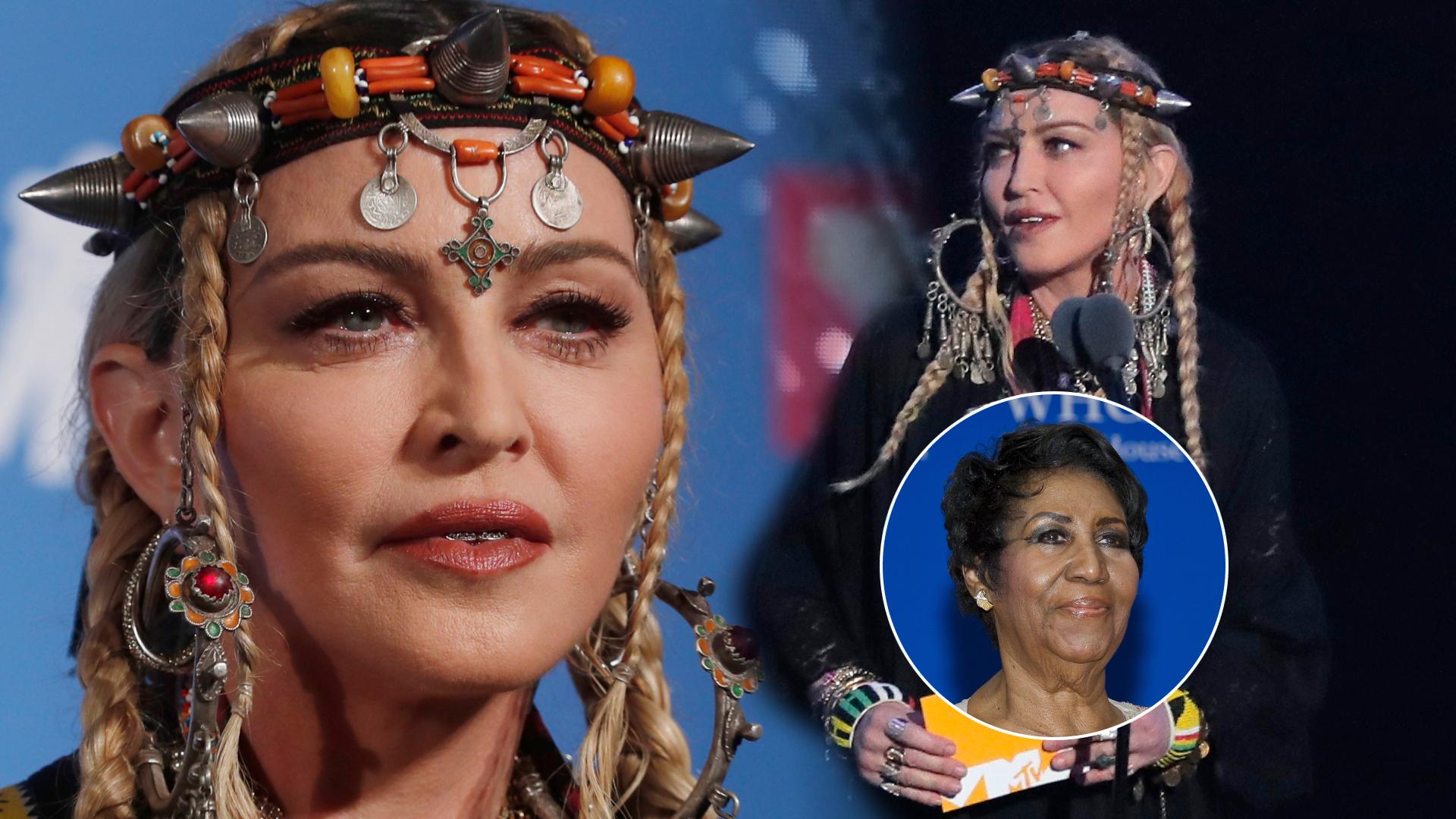 """Madonna w SKANDALICZNY sposób """"uhonorowała"""" Arethę Franklin na MTV!"""