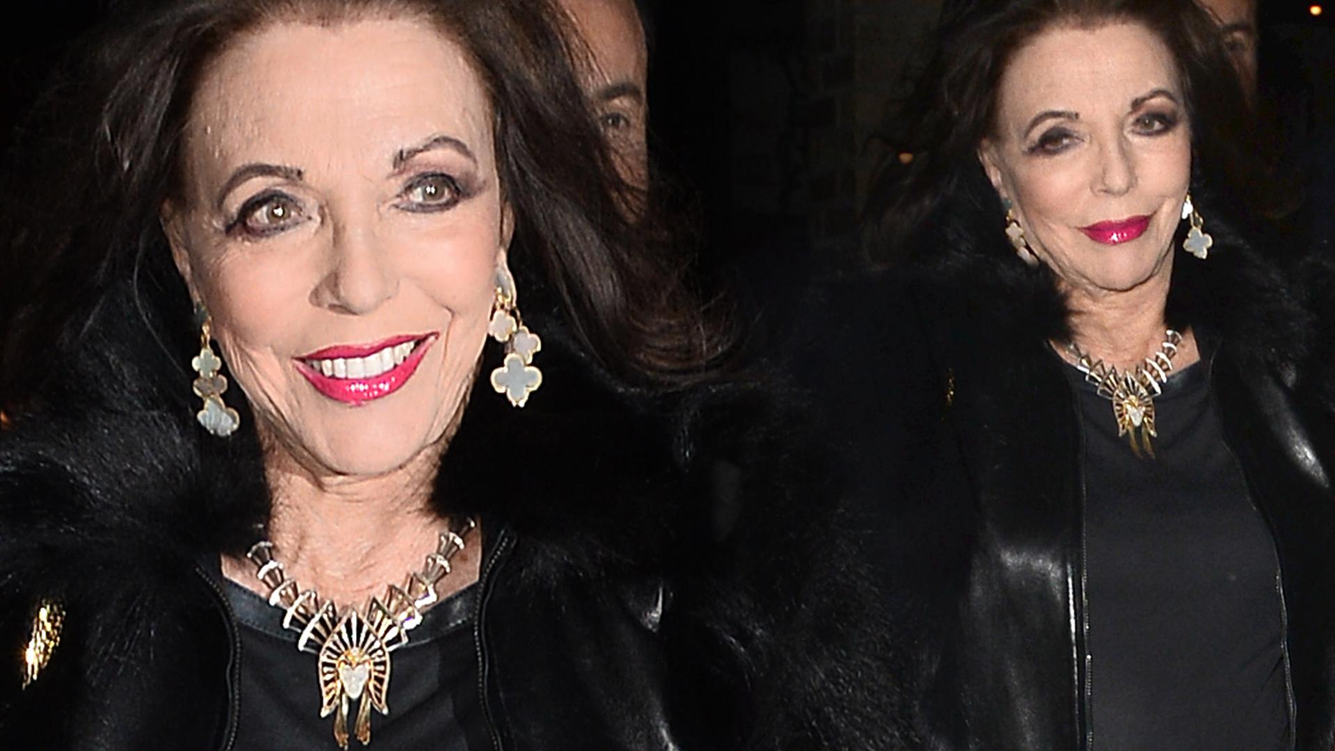 85-letnia Alexis z Dynastii uśmiecha się to paparazzi. Zachwyca formą?