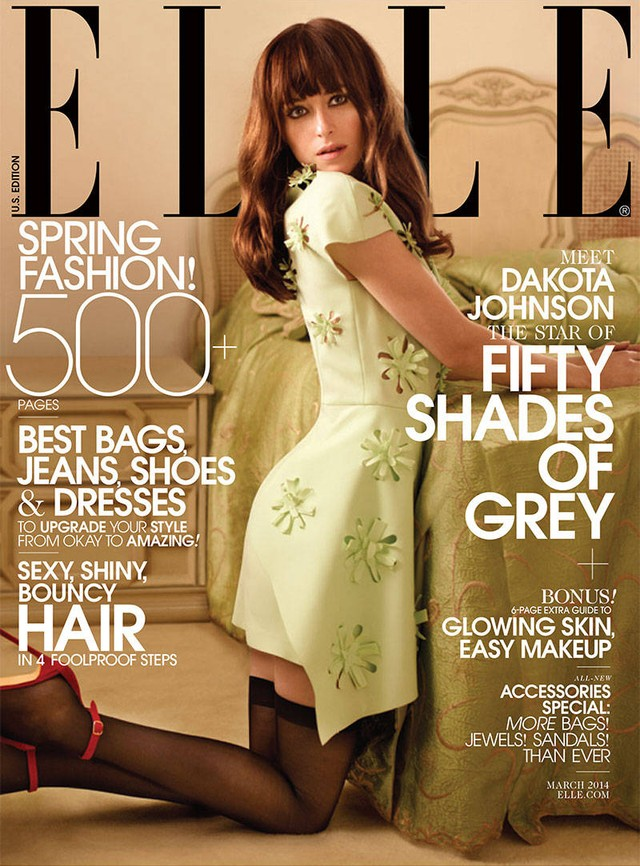 Dakota Johnson na okładce Elle (FOTO)