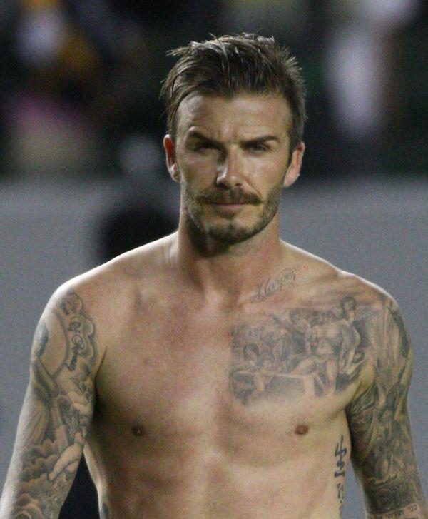 David Beckham zmęczony bez retuszu (FOTO)