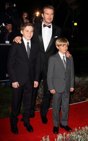 David Beckham zabrał synów na oficjalną imprezę (FOTO)