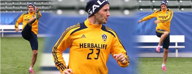 David Beckham na ostatnim treningu (FOTO)