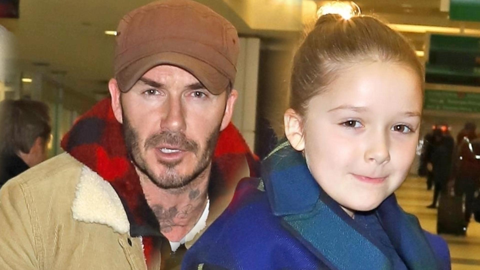 David Beckham SKRYTYKOWANY za pocałunek 7-letniej córki (Instagram)
