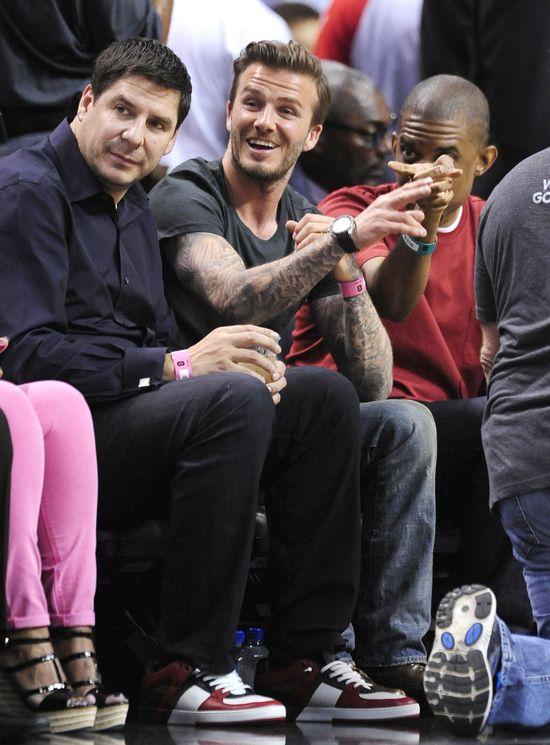 David Beckham �ledzi mecz