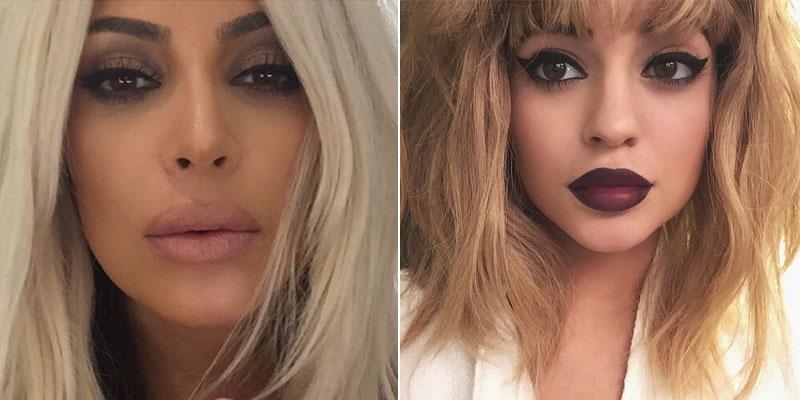 Kim zdecydowała się na mocne zmiany! Jej włosy z ciemnych stały się platynowe, a usta... No właśnie! Kardashianka podjęła #KylieJennerChallenge i powiększyła swoje usta obrysowując je konturówką poza krawędziami. Tym razem to ona zainspirowała się swoją młodszą siostrą.