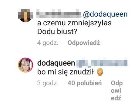 Dlaczego Doda zmniejszyła biust? Zdradziła to fanom