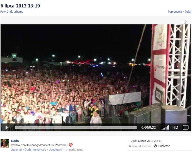 Doda udowadnia, że na jej koncerty przychodzą tłumy (VIDEO)