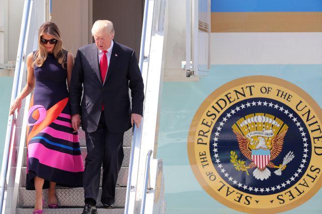 Ekspert o zachowaniu Agaty Dudy podczas wizyty Trumpów