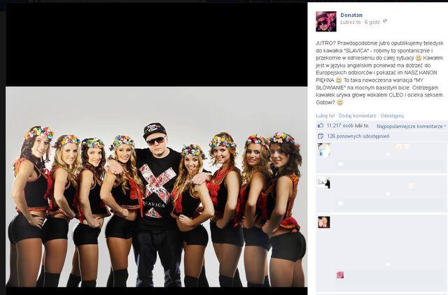 Donatan z nagą Olą Ciupą reklamuje nowy kawałek - Slavica