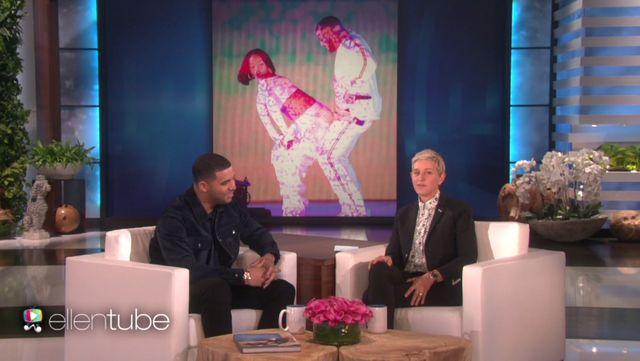 Ellen Degeneres zapyta�a Drake'a o jego relacje z Rihann�