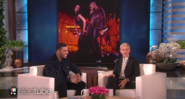 Ellen Degeneres zapytała Drake'a o jego relacje z Rihanną