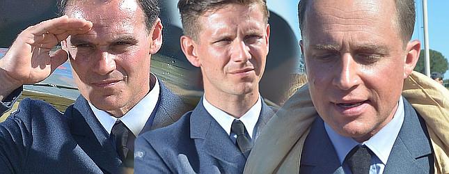 Adamczyk, Wieczorkowski i Zakościelny na planie filmu Dywizjon 303 (FOTO)