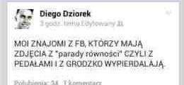 Aktor z rodzinki.pl karze w*pierdalać pedałom!