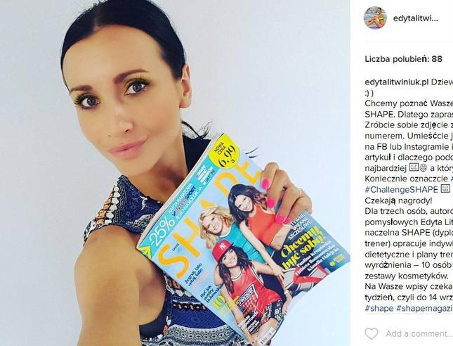 Edyta Litwiniuk w bikini zachęca do akcji #JestemShape (Instagram)