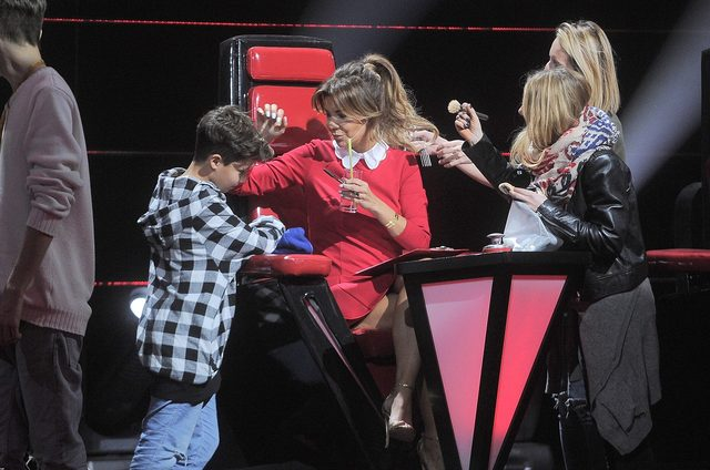 Edyta Górniak z Allanem na planie The Voice (FOTO)