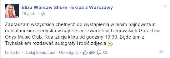 Kariera Elizy z Warsaw Shore nabiera rozpędu? (FOTO)