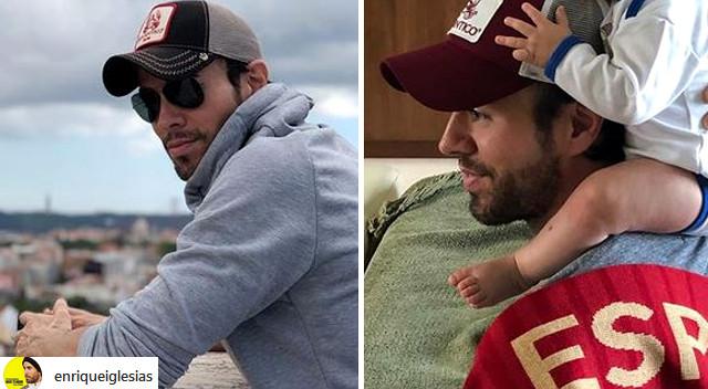 Rodzina Enrique Iglesiasa z bliźniakami na czele ogląda Mundial (Instagram)