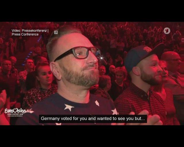 Zamieszanie wokół reprezentanta Niemiec na Eurowizji [VIDEO]
