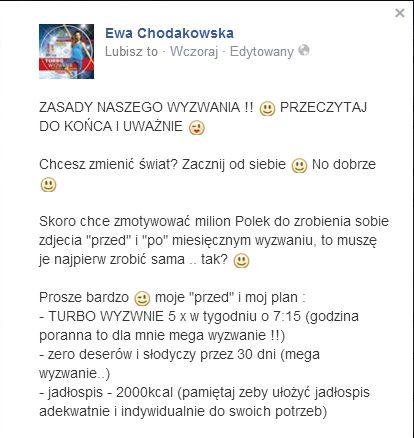 Ewa Chodakowska zapowiada własną metamorfozę (FOTO)