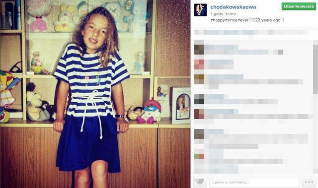 Ewa Chodakowska ponownie chwali się zdjęciem z dzieciństwa