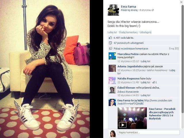 Ewa Farna chwali się stylizacjami z X Factora (FOTO)