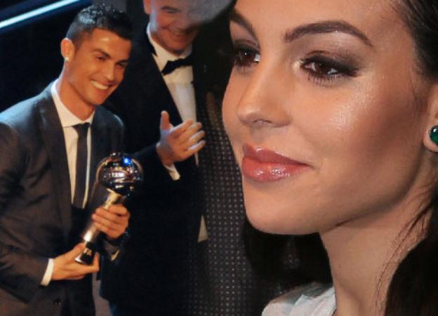 Georgina Rodriguez z Cristiano Ronaldo - najlepszym piłkarzem FIFA