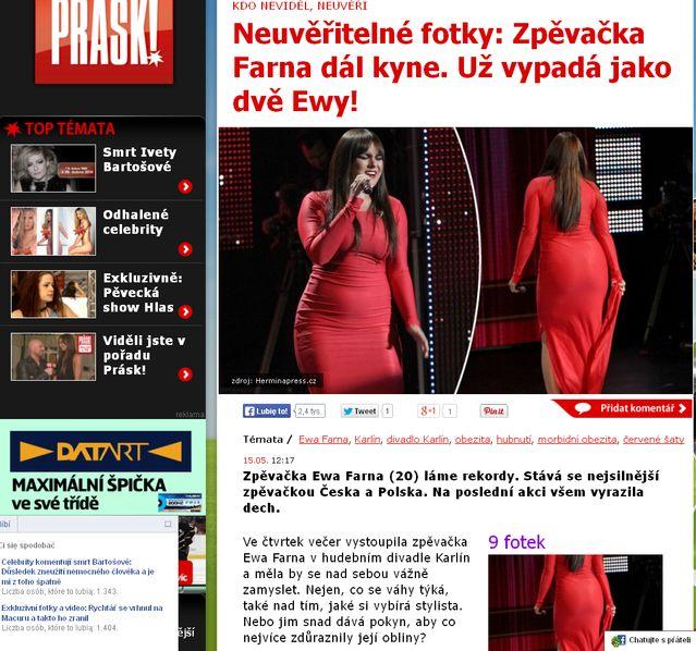 Czeski portal o Farnej: Już wygląda jak dwie Ewy! (FOTO)