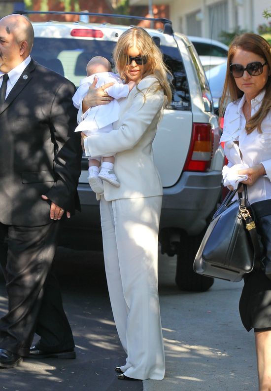 Fergie po raz pierwszy przyłapana z dzieckiem