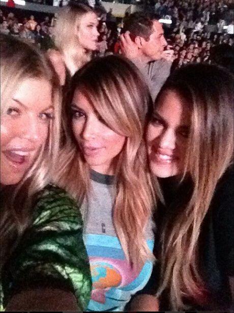 Kim Kardashian i Fergie - wielkie przyjaciółki?