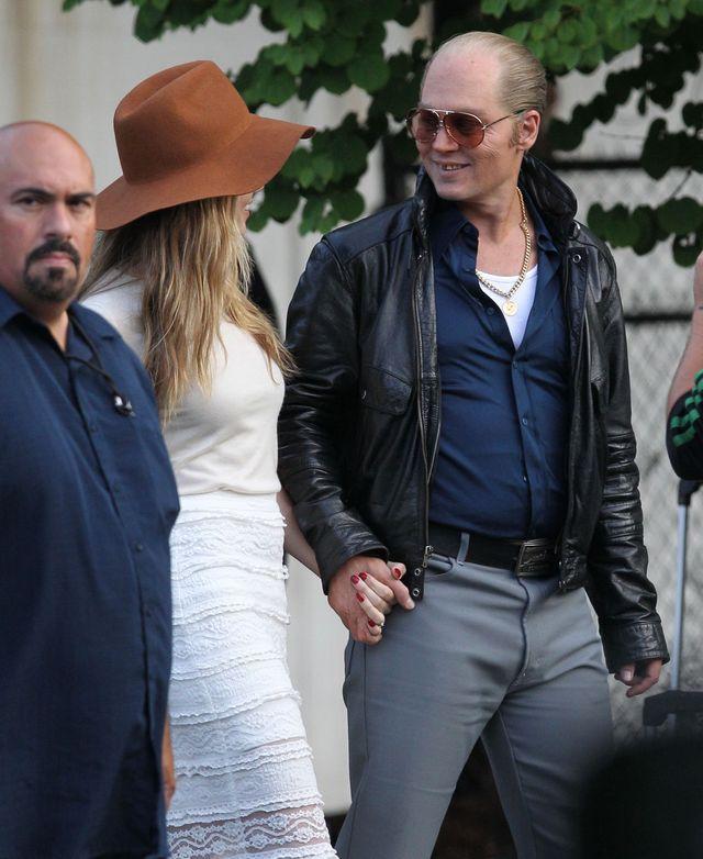 Amber Heard odwiedzi�a Johnny'ego Deppa na planie (FOTO)