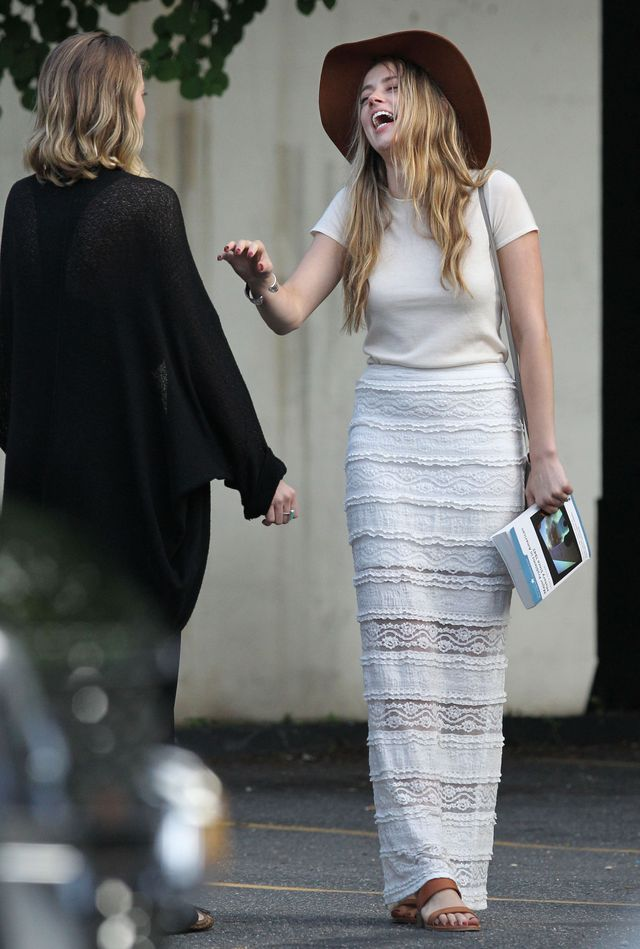 Amber Heard odwiedziła Johnny'ego Deppa na planie (FOTO)