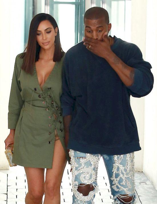 Kanye West w�ciek�y na ochroniarzy Kim Kardashian!