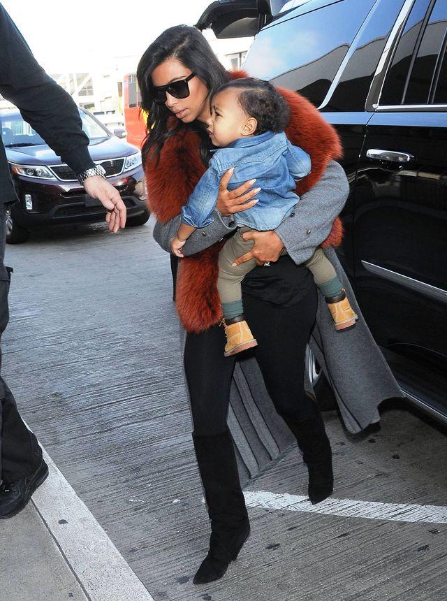 Kim Kardashian i Nori - stylowy duet (FOTO)