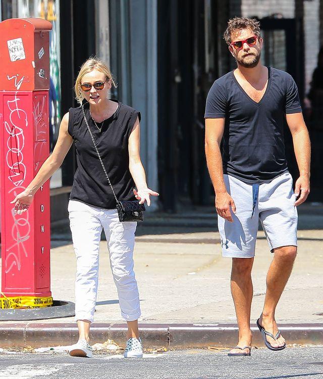Diane Kruger i Joshua Jackson k��c� si� na ulicy (FOTO)