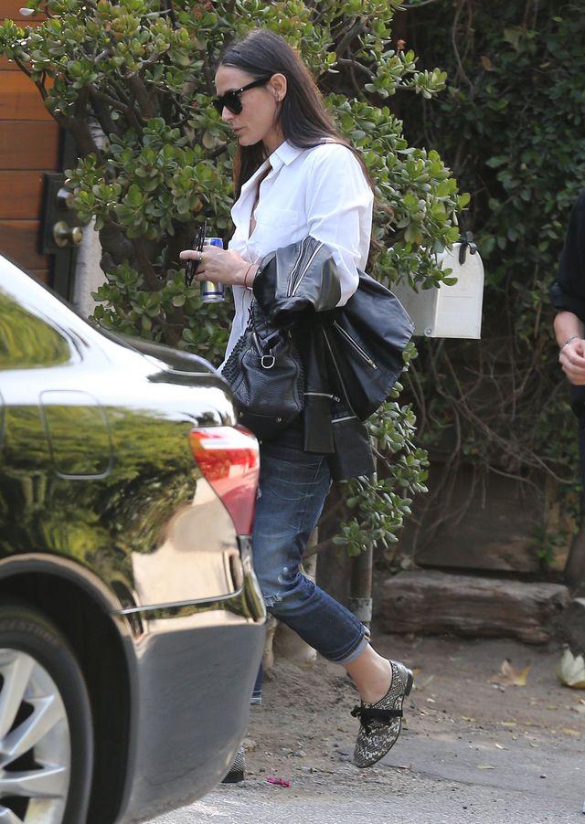 Demi Moore nie kryje siwych kosmyków (FOTO)