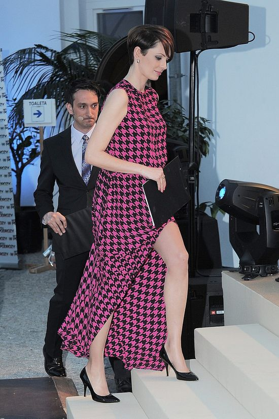 Dorota Gardias już w luźniejszej sukience (FOTO)