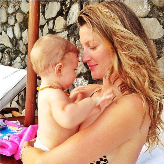 Gisele Bundchen wypoczywa z córeczką (FOTO)