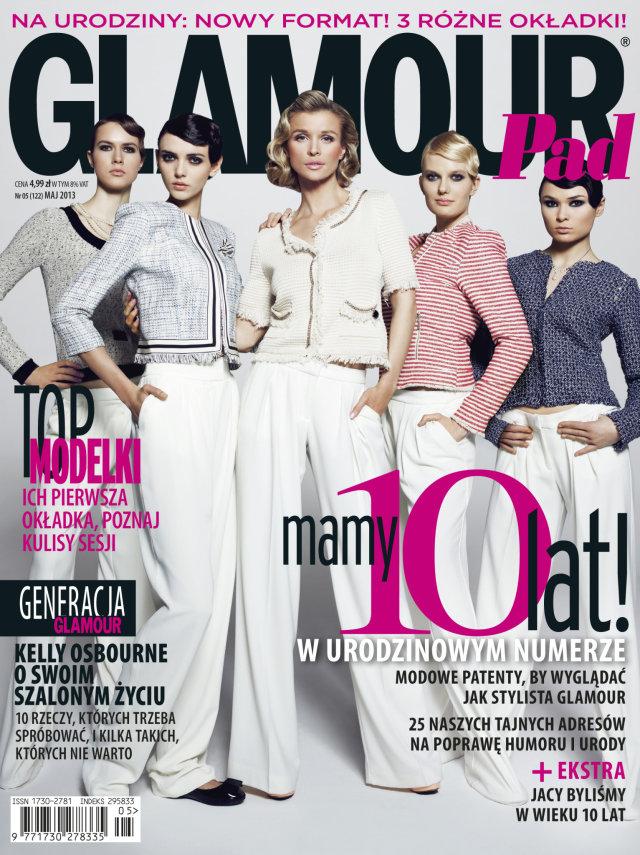 Dziewczyny z Top Model na trzech ok�adkach Glamour (FOTO)