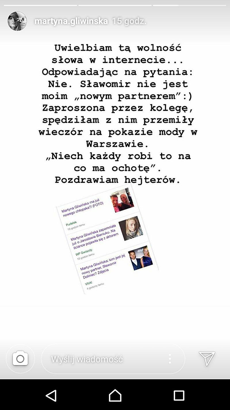 Martyna Gliwińska KOMENTUJE plotki na temat nowego partnera
